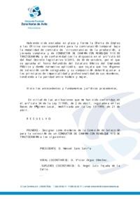 Decreto de la designación de la Comisión de Selección