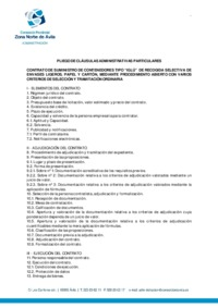 Pliego de cláusulas administrativas particulares