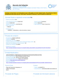 Anuncio de licitación (PCSP)